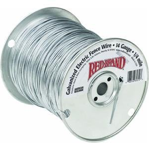 Red Brand Electric Fence Wire Roll Is 1/2 Mile In Length Galvanized Steel