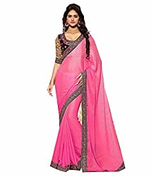 My online Shoppy Jacquard Saree (My online Shoppy_40_Pink)