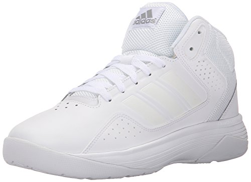 adidas Performance Men's Cloudfoam Ilation Mid Basketball Shoe,White/White/Clear Onix Grey,10.5 M US