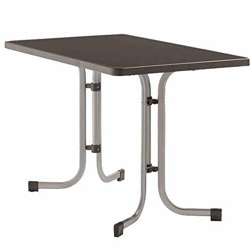 Sieger-233A-Boulevard-Klapptisch-mit-mecalit-Pro-Platte-115-x-70-cm-Stahlrohrgestell-graphit-Tischplatte-Schieferdekor-anthrazit