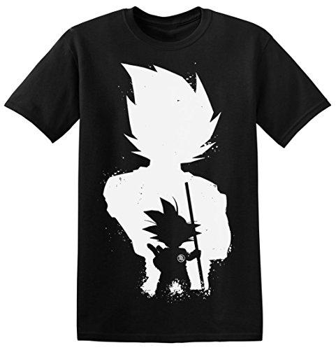 Dragon Ball Little Goku Black Silhouette Men's T-shirt Large