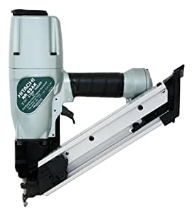 Hitachi NR65AKS Strap-Tite 1-1/2-Inch to 2-1/2-Inch Positive Placement Nailer with Short Magazine