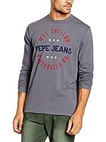 Pepe Jeans London Camiseta Manga Larga Stett (Gris Oscuro)