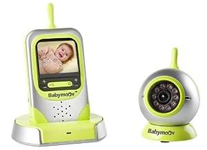 Babymoov A014403 Babyphon Visio Care - Sistema de videovigilancia para bebés con activación por sonido, imagen de alta definición, visión nocturna y piloto de luz nocturna