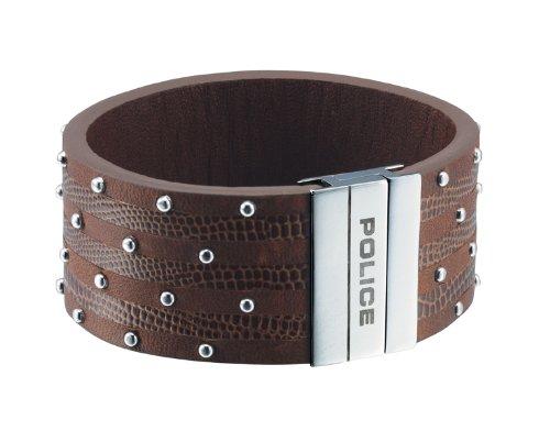 Police Avenger Leather Bracelet 21 cm