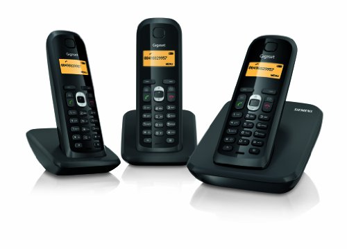 Gigaset AS200 Trio DECT Cordless Phone - Black picture