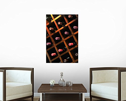 Wine Rack Wall Decal - 48 Inches H X 32 Inches W - Peel And Stick Removable Graphic front-630399