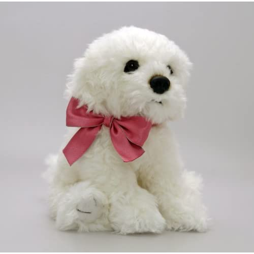 Soft toys toys at amazon co - Keel Toys Cuddly Plush 30cm Bichon Frise Puppy Dog Soft Toy With Bow