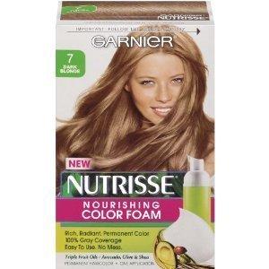 garnier mousse colorante nutritive nutrisse couleur riche radieuse et permanente application facile - Coloration Blond Fonc