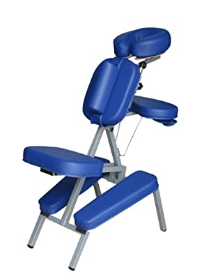 Portable Massage Folding Blue Chair Including Carrying Case