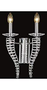 2 Arm Modernistic Egyptian Crystal Wall Light - HP011190
