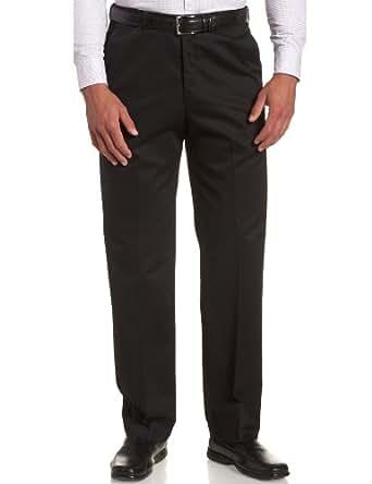 Haggar Men's Work To Weekend Hidden Expandable Waist No Iron Plain Front Pant, Black,30x30