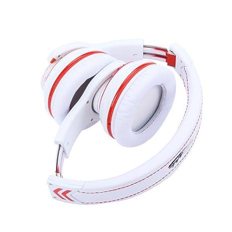 Kingzer G18 Syllable Casque audio Bluetooth 4.0 sans fil avec microphone à réduction de bruit Blanc