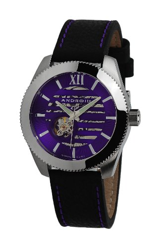 Android Unisex AD662BPU Venona Skeleton Automatic Cut Out Dial Polished Bezel Watch