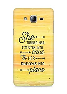 AMEZ cants into cans dreams into plans Back Cover For Samsung Galaxy ON5