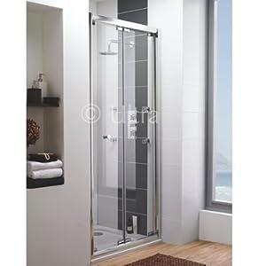 Ultra 1000mm frameless bi fold shower door for 1000mm frameless shower door