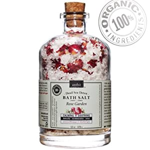 ORGANIC Bath Salt - Dead Sea Detox - Rose from Antho