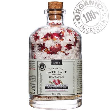 Organic Bath Salt - Dead Sea Detox spa - Rose