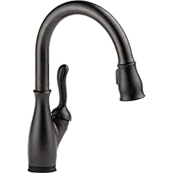 Delta Faucet 9178T-RB-DST Leland, Single Handle Pull-Down Kitchen Faucet with Touch2O, Venetian Bronze