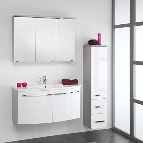 4251016314445 badezimmer set hochglanz wei badmbel waschtisch bad waschplatz spiegelschrank