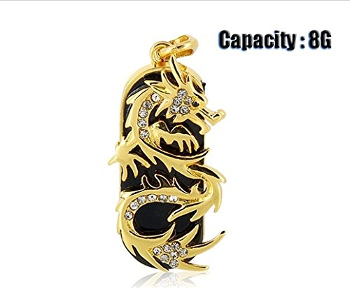 Jmc089 8gb Dragon Design USB Flash Drive with Jewelry Surface (Gold)