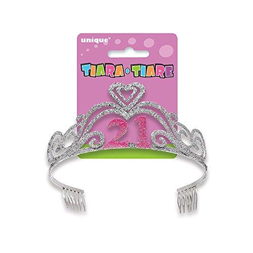 Glitter 21st Birthday Tiara - 1