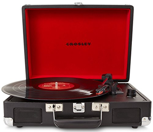 Crosley Cr8005A-Bk Cruiser Portable 3-Speed Turntable (Black)