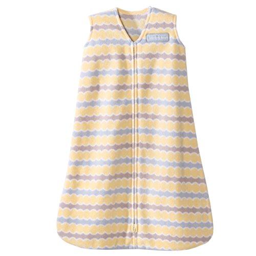 HALO SleepSack Micro-Fleece Wearable Blanket, Yellow Waves, X-large