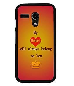 Printvisa 2D Printed Love Designer back case cover for Motorola Moto G - D4527