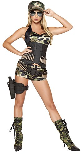 Army Babe Costume - Small - Dress Size 4