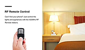 (2pcs/Pack) Sonoff RF - 433Mhz RF Remote Control WiFi Wireless Smart Switch With RF Receiver For Smart Home for Home Appliances and Lamps (Color: white, Tamaño: 88*38*23mm)