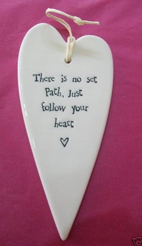 New East of India Follow Your Heart Ceramic Gift