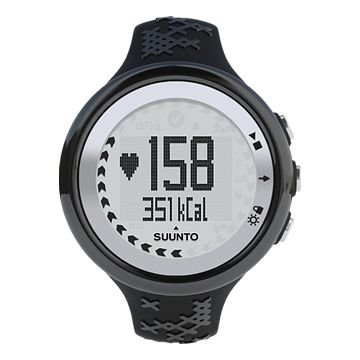 Suunto M5 Heart Rate Monitor Watch Women Black Silver Clamshell package SS015307000