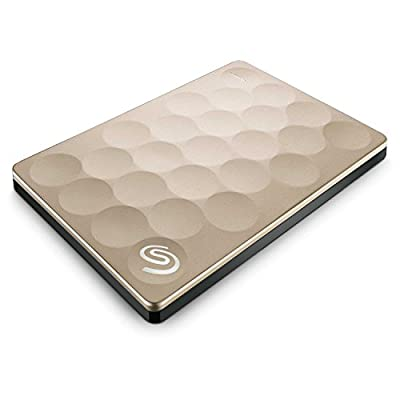 Seagate Backup Plus Ultra Slim 1TB Portable Drive (Gold)
