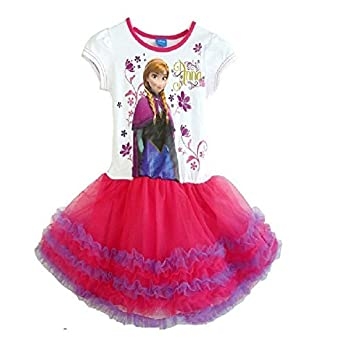 Frozen Princess Elsa and Anna Dress Girl's Purple Tutu Dress Costume