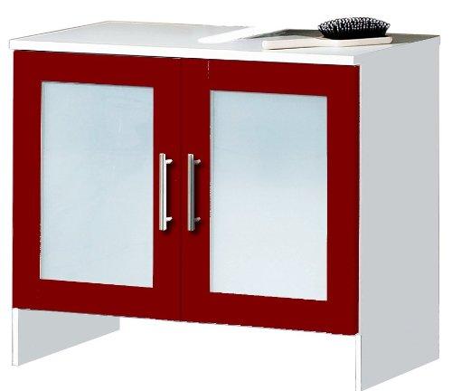 Under Washbasin Storage sink storage cabinet bathroom Cupboard - red