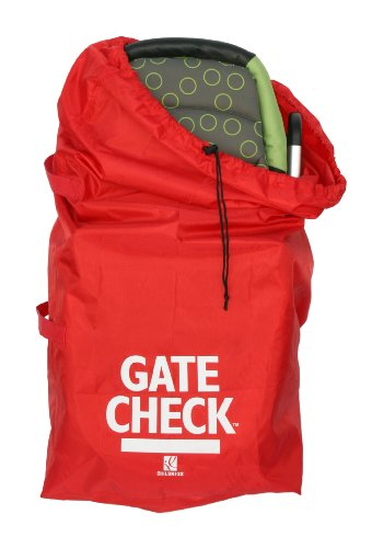 J.L. Childress Gate Check Bag For Standard and Double Strollers, Red.
