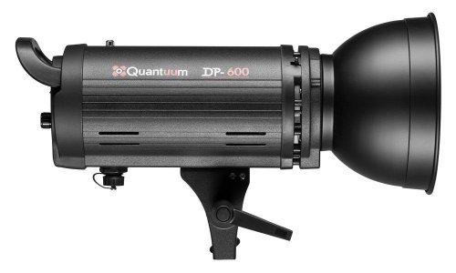 GIn - Quantuum Flash da Studio DP-600 600W predisposto per DUAL POWER DOPPIA ALIMENTAZIONE da Rete e da Batteria con attacco Bowens standard