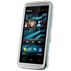 Nokia 5530 XpressMusic white blue (WLAN, Touchscreen, 3D-Surround-Sound, Kamera mit 3,2 MP) Handy ohne Vertrag, ohne Branding, kein Simlock