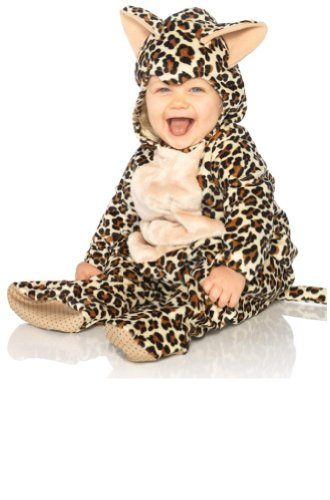 Leg Avenue Costume Unisex-baby Leopard Hooded Bodysuit with Non-skid Soles