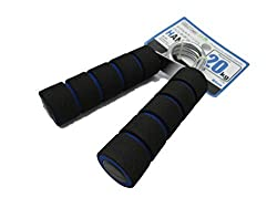 Hand Gripper Exerciser Forearm Strength 20 kg (44.1 lbs) 1 Pcs, Blue Handle From Daiso Japan