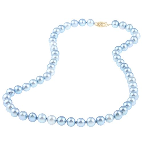 Blue Freshwater Pearl 18-inch Strand (7.5-8 mm)