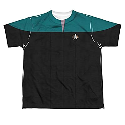 Sublimation Youth: Voyager Science Uniform Costume Star Trek Voyager T-Shirt