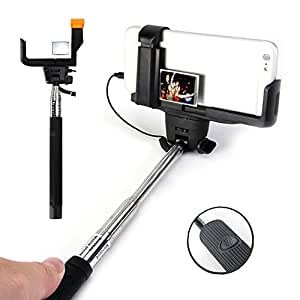 selfie stick gmyle handheld monopod with rearview mirror charging free wired with cable. Black Bedroom Furniture Sets. Home Design Ideas