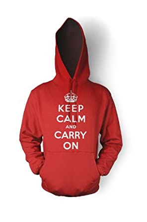keep calm and carry on hoodie sweatshirt red l at amazon