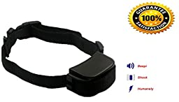 Lesypet ® Effective Bark Collar Training System Guaranteed to Safely Stop Dog Barking,Advanced No bark collar/Bark Control Collar, Adjustable Nylon Collar, Waterpoof, An High Quality and Effective Pet Training Device for 4-120 Pounds Dog (Such as Labrado