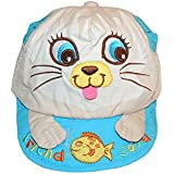 Kids Cat And Fish Good Freind Pattern Caps Spring And Autumn Baby 100% Cotton Cap (Grey)