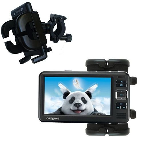 Gomadic Bike Handlebar Holder Mount System Suitable For The Creative Zen Vision W - Unique Holder, Lifetime Warranty front-1035731