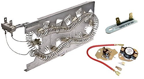KENMORE HEATING ELEMENT WITH FUSES - Fits late models Whirlpool, Kenmore, Estate, and Roper electric dryers. 240volt 5200watt. 5/16inch terminals ( 3387747, 3392519, 279816) (Kenmore Heating Elements compare prices)