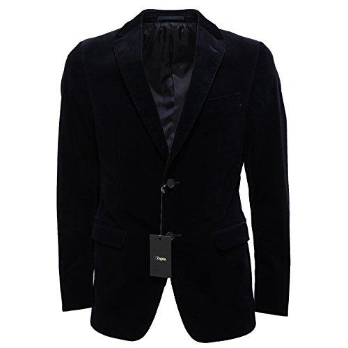 3337M giacca uomo blu ERMENEGILDO ZEGNA LINEA ZZEGNA velluto jackets coats men [48 R]